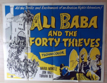 Ali Baba and the Forty Thieves Film Poster - UK Quad